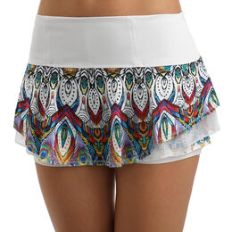 Illusion Velour Flip Skirt Women