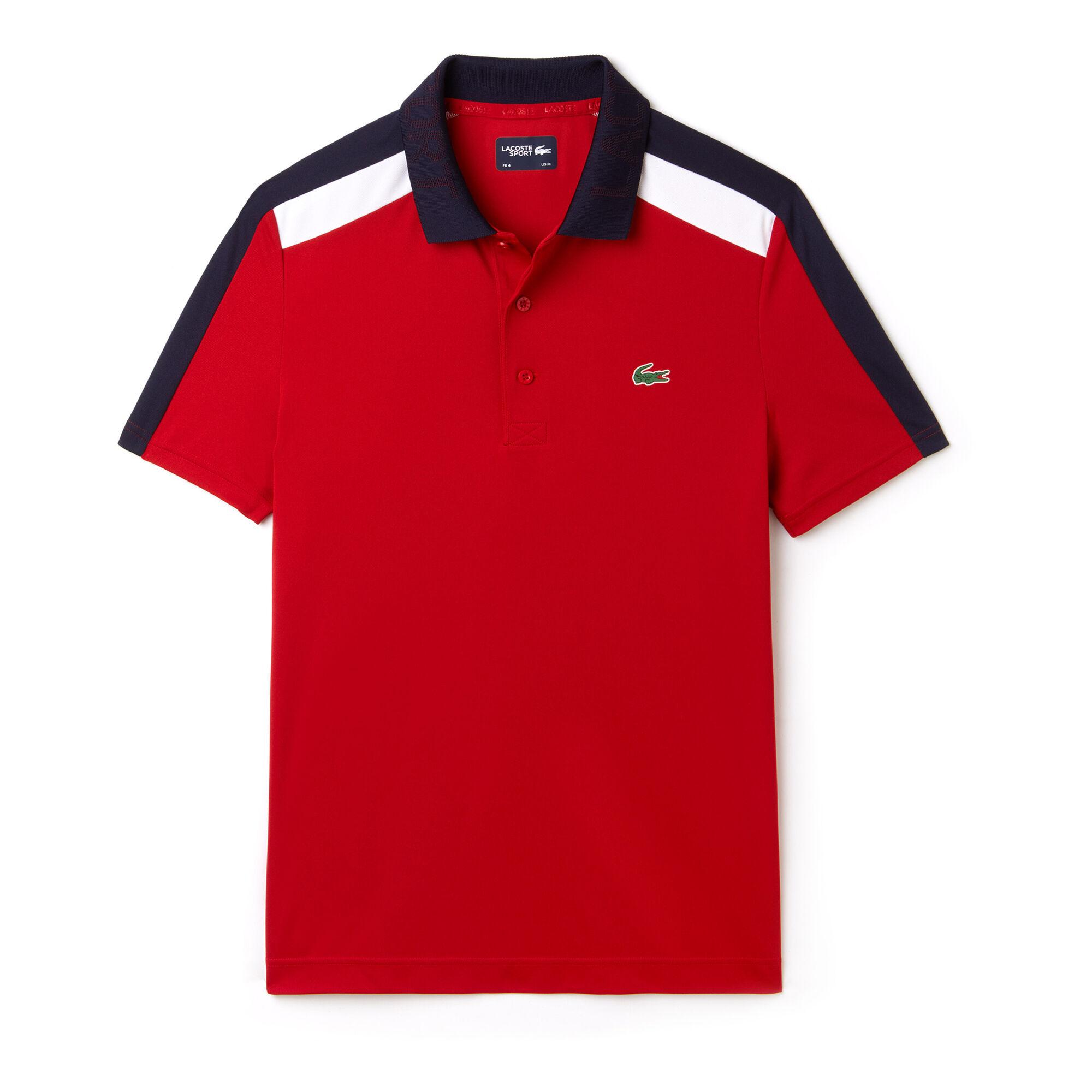 4bdab9e888 Lacoste Ribbed Collar Polo Hommes - Rouge , Noir online kopen ...